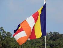 Flagga av buddism royaltyfri fotografi