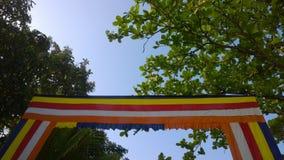 Flagga av buddisten Royaltyfri Bild
