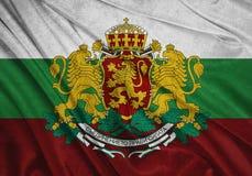 Flagga av Bulgarien stock illustrationer
