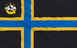 Flagga av Caithness av Skottland, Förenade kungariket av Storbritannien Stock Illustrationer