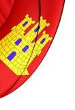 Flagga av Castile-La Mancha, Spanien Royaltyfri Bild