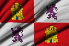 Flagga av Castilla y Leon Arkivbild