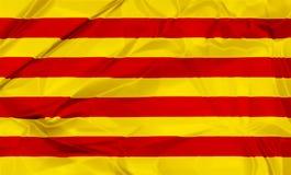 Flagga av Catalonia Royaltyfria Bilder