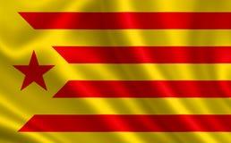 Flagga av Catalonia Royaltyfri Foto