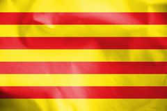 Flagga av Catalonia Stock Illustrationer
