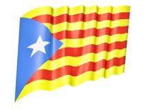 Flagga av Catalonia Arkivbild