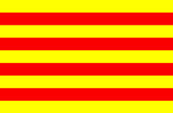 Flagga av Catalonia Royaltyfria Foton