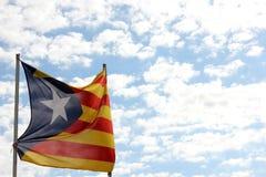 Flagga av Catalonia Fotografering för Bildbyråer