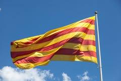 Flagga av Catalonia Royaltyfri Fotografi