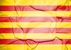Flagga av Catalonia Royaltyfri Illustrationer