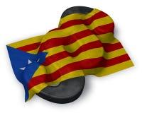 Flagga av catalonia och avsnittsymbolet Arkivfoton