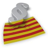 Flagga av catalonia och avsnittsymbolet Stock Illustrationer