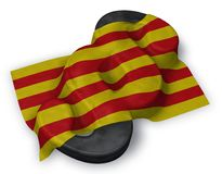 Flagga av catalonia och avsnittsymbolet Royaltyfri Illustrationer