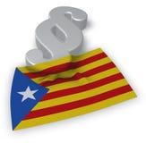 Flagga av catalonia och avsnittsymbolet Royaltyfria Foton