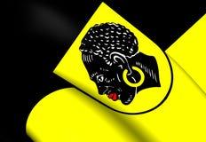 Flagga av Coburg, Tyskland vektor illustrationer