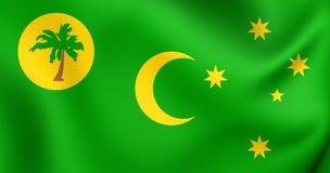 Flagga av Cocosöarna vektor illustrationer