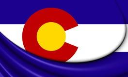 Flagga av Colorado, USA stock illustrationer