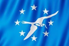 Flagga av Corpus Christistaden, Texas USA royaltyfri illustrationer