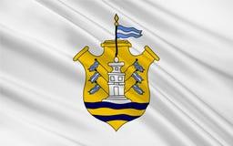 Flagga av den Cordoba staden i Argentina stock illustrationer