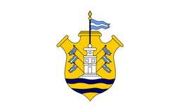 Flagga av den Cordoba staden i Argentina royaltyfri illustrationer