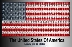 Flagga av den eniga staten av Amerika royaltyfri illustrationer