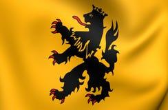 Flagga av den Hulst staden, Nederländerna royaltyfri illustrationer