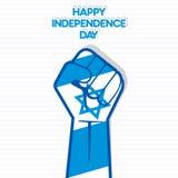 Flagga av den Israel handdesignen Royaltyfri Fotografi