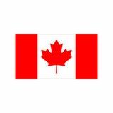 Flagga av den Kanada vektordesignen Royaltyfri Foto