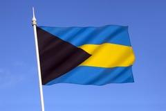 Flagga av den karibiska Bahamas - Royaltyfri Foto
