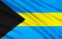 Flagga av den karibiska Bahamas -, Nassau vektor illustrationer