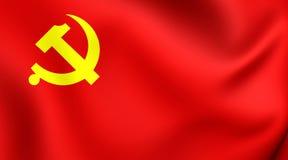 Flagga av den kinesiska kommunistpartiet vektor illustrationer