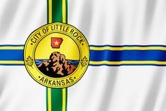 Flagga av den Little Rock staden, Arkansas USA stock illustrationer