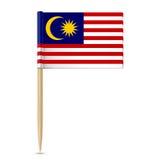 Flagga av den Malaysia tandpetaren stock illustrationer