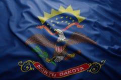 Flagga av den North Dakota staten arkivfoto