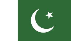 Flagga av den Pakistan symbolsillustrationen Royaltyfria Bilder