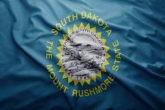 Flagga av den South Dakota staten royaltyfri fotografi