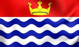 Flagga av den större London regionen, England royaltyfri illustrationer