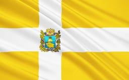 Flagga av den Stavropol regionen, rysk federation Stock Illustrationer