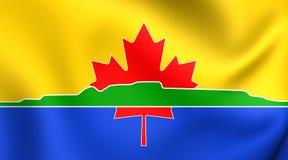 Flagga av den Thunder Bay staden, Kanada close upp royaltyfri illustrationer