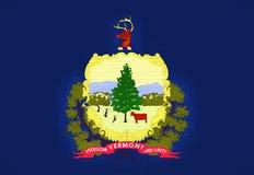 Flagga av den Vermont väggen Arkivbilder