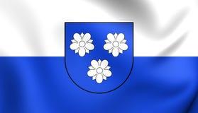 Flagga av den Viersen staden norr Rhen-Westphalia, Tyskland royaltyfri illustrationer