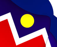 Flagga av Denver, USA royaltyfri illustrationer