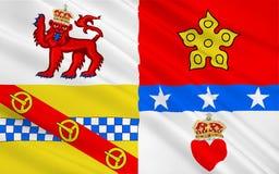 Flagga av det Angus rådet av Skottland, Förenade kungariket av stora Brita stock illustrationer