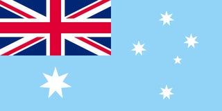 Flagga av det australiska antarktiska territoriet Royaltyfria Bilder