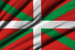 Flagga av det baskiska landet Royaltyfri Fotografi