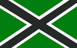 Flagga av det Clackmannanshire rådet av Skottland, Förenade kungariket av royaltyfri illustrationer