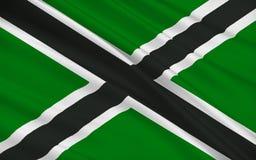 Flagga av det Clackmannanshire rådet av Skottland, Förenade kungariket av vektor illustrationer