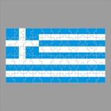 Flagga av det Grekland pusslet på grå bakgrund stock illustrationer