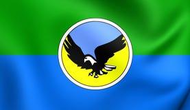 Flagga av det Lezgian folket vektor illustrationer