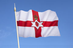 Flagga av det nordliga - Irland - Ulster banret Royaltyfri Fotografi